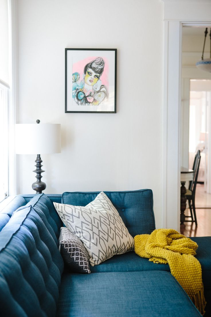 home tour kate davison jesse hayes blue sofasteal
