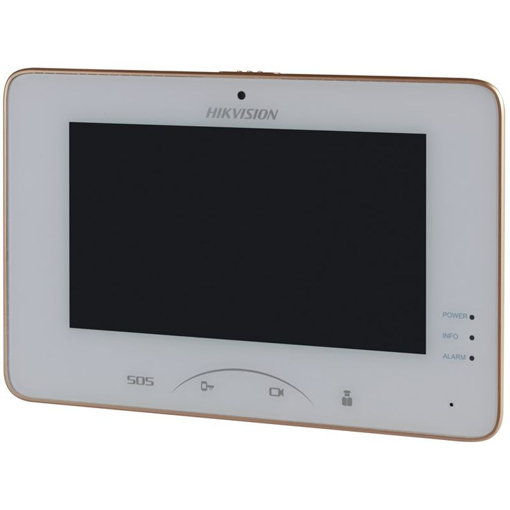Hikvision DS-KH8300-T DS-KH8300-T Цветной IP-видеодомофон HikVision DS-KH8300-T - отличный выбор для тех, кто хочет контролировать допуск гостей и посетителей в свой дом или офис. Модель оснащается большим сенсорным TFT-экраном, размер которого составляет 7 дюймов, а разрешение - 1024х600, на котором в деталях можно разглядеть передаваемое с вызывной панели изображение. Создать более полную картину происходящего и принять решение перед открытием двери помогут также встроенные в устройство…