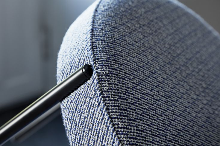 A Verner Panton chair dressed in Kvadrat/Raf Simons' Noise textile.
