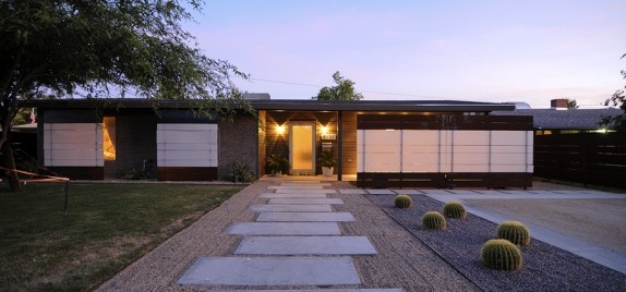 Mid Century Modern House Exterior Curb Appeal