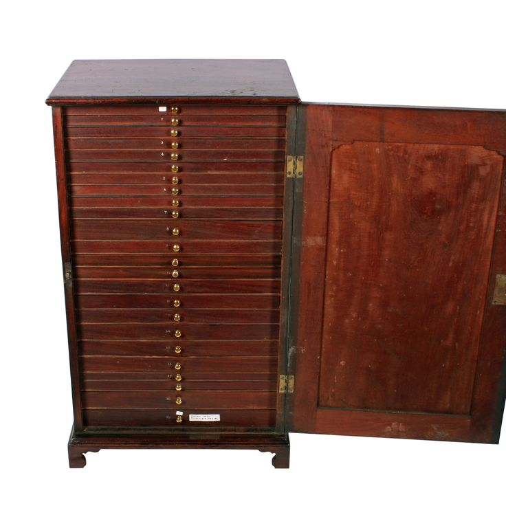 Unusual George II Collector's Cabinet