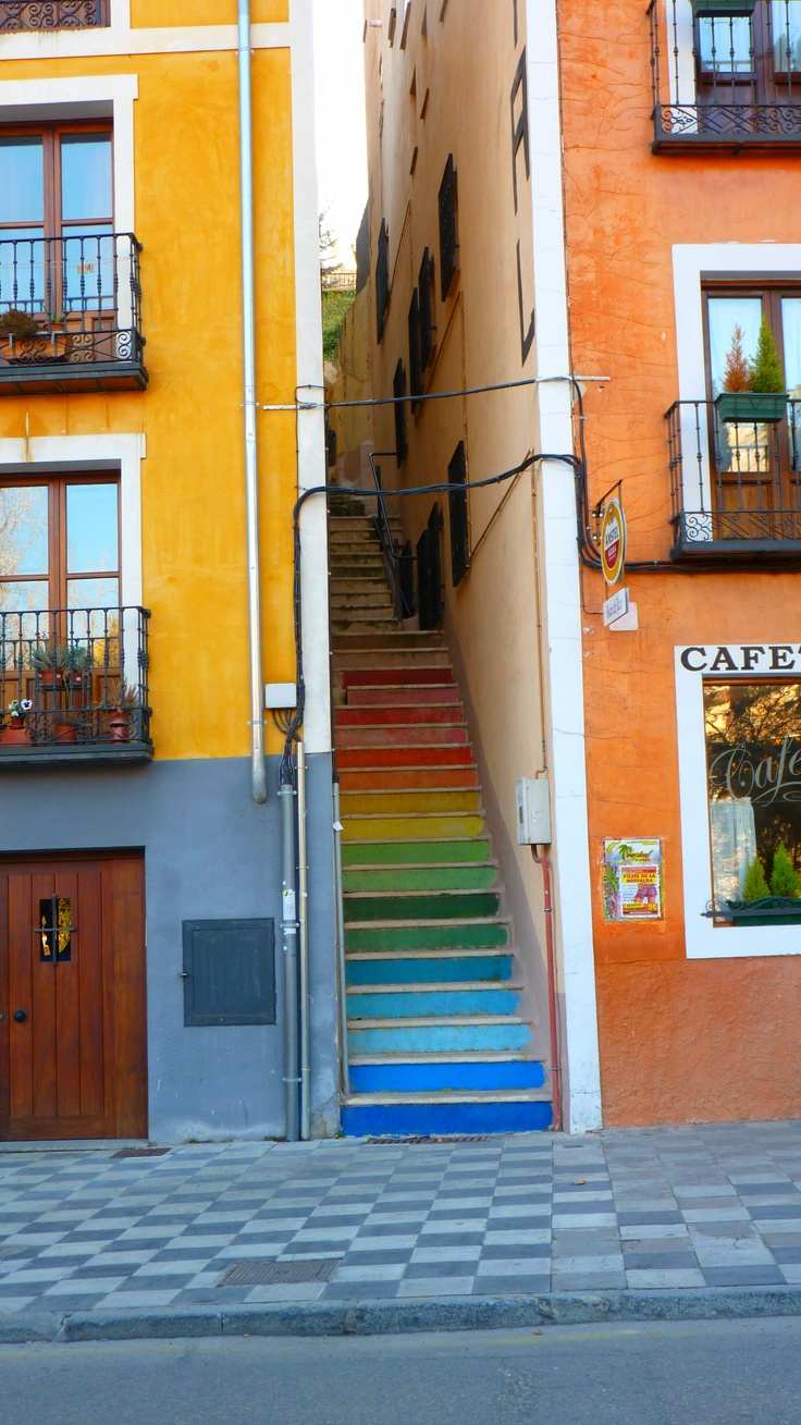 Just want to dance my way through Spain <3 Cuenca. Spain  Colorfull stairs