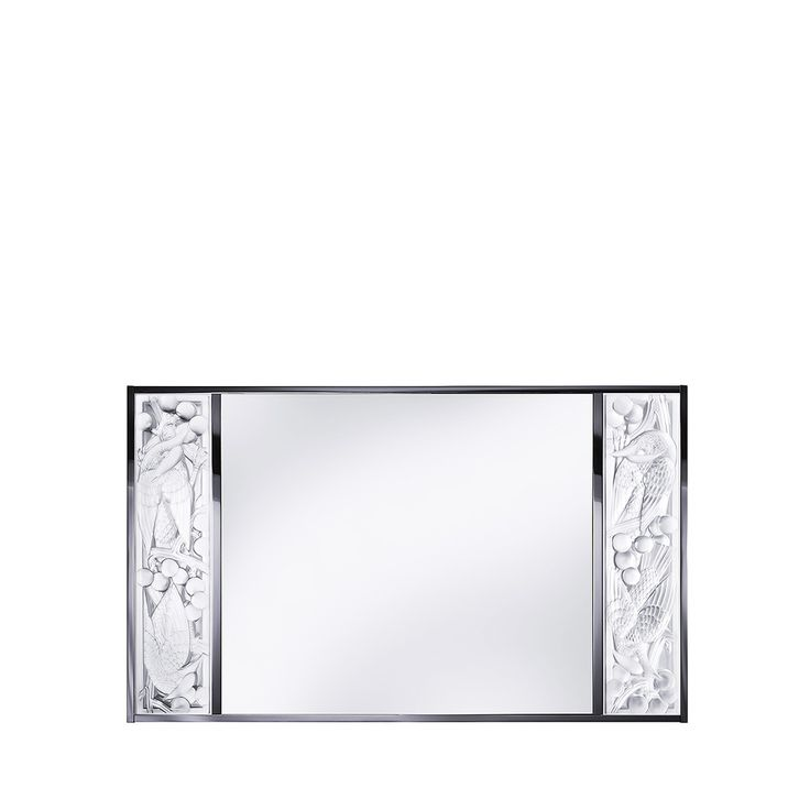Merles et Raisins mirror, Lalique mirror, discover all Lalique mirrors with crystal elements at lalique.com
