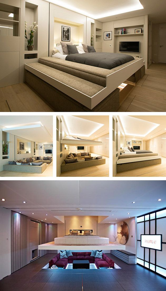 Forget Roll-Away Beds, This One Hides in the Ceiling When Not in Use, and Descends at the Push of a button - TechEBlog