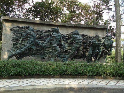 Nyoman Nuarta sculpture in Bandung, Indonesia