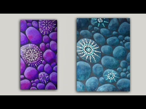 Shimmering Stones acrylic paintings painted on canvas. This video shows two options. These paintings can be painted on any sized canvas or any other suitable...