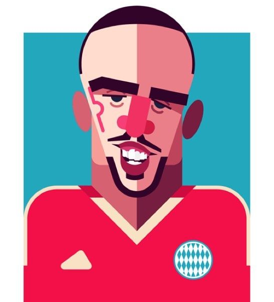 Dear Scarface the Supporters of the beautiful game misses you! Come back soon! @danielnyaridesign #ribery #franckribery #supporterspro #bayernmunich