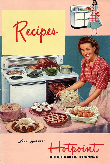 This cookbook is definitely required to go with this pink time capsule kitchen!