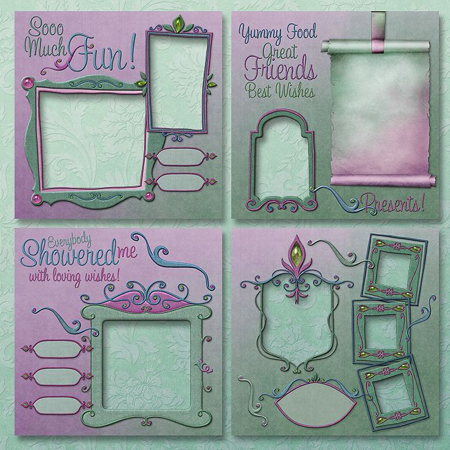 "Jaguarwoman's ""Wedding Shower"" Scrapbooking Kit"