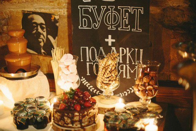 Новогодняя свадьба, сладкий стол - The-wedding.ru