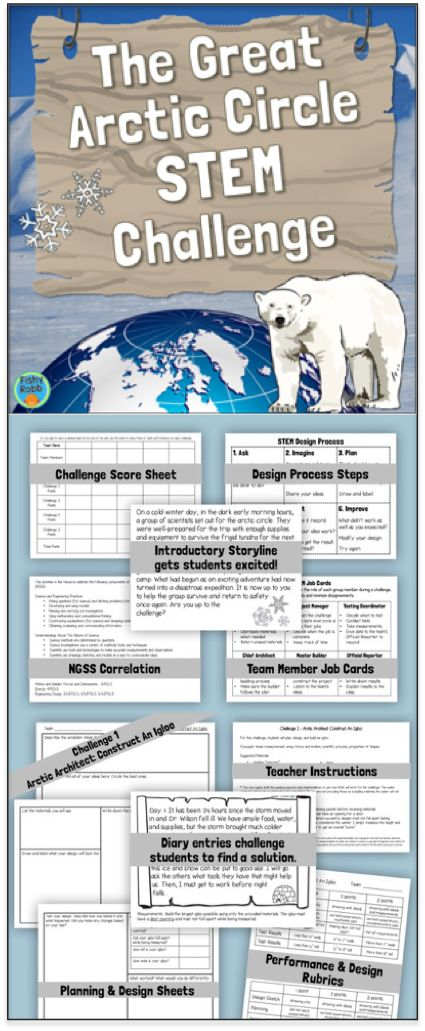 The Great Arctic Circle STEM Challenge - Save the stranded explorers by completing 5 different STEM activities!