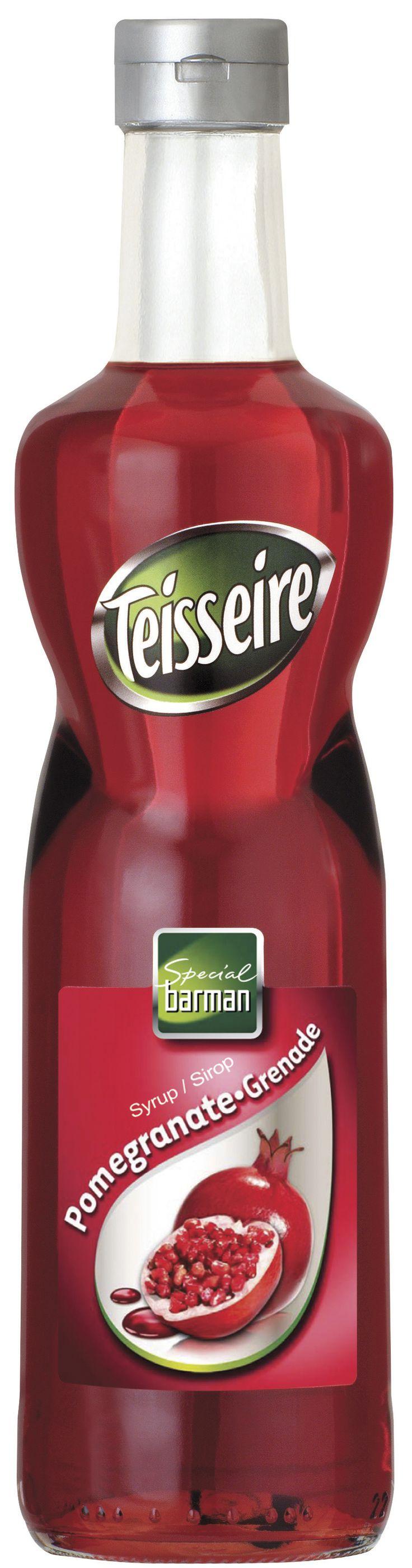 Σιροπι για κοκτέιλ, TEISSEIRE με γευση ροδι (pomegranate) # Granikal.