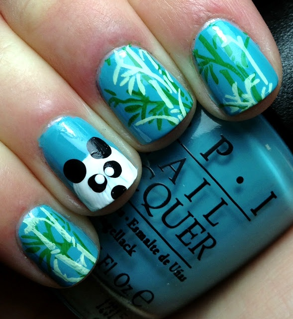 The 25 best panda nail art ideas on pinterest cool easy nail nails by an opi addict panda nails prinsesfo Images