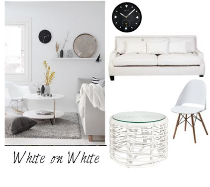 White on White Styling in the Lounge Room
