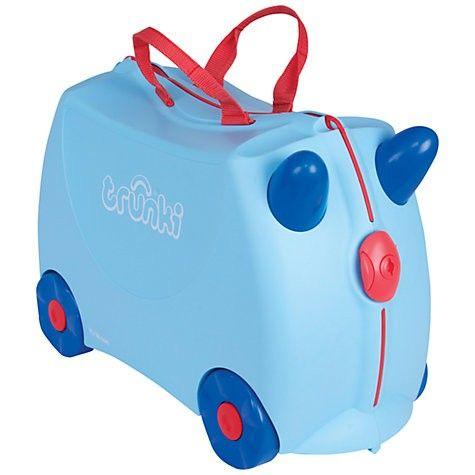 TRUNKI GEORGE BLUE - MALETA DE VIAJE INFANTIL Nuevos colores, nuevos diseños... www.bebenomada.com