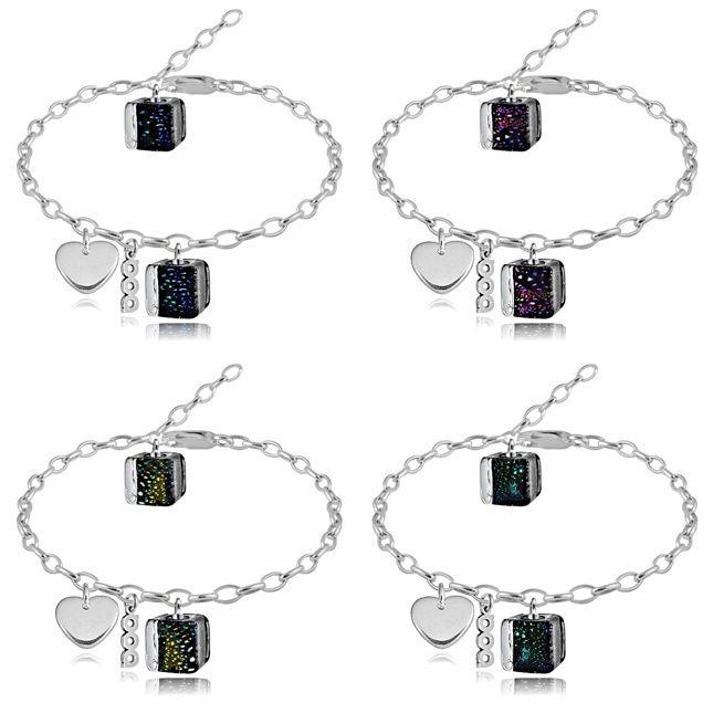 srebrne bransoletki z serduszkiem - kolekcja Gwiezdny Pył