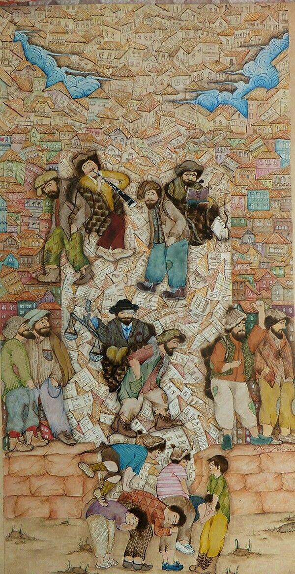 Miniature art & Illustration: Freedom....~painter: Merve Karlı