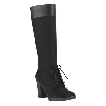 Timberland - Bottes Glancy Tall Lace With Side Zip Femme - Noir