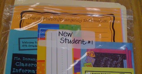 Clutter-Free Classroom: NEW STUDENT BAGS {Coffee & a Clever Idea}