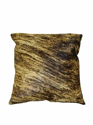 66% OFF Natural Brand Torino Cowhide Pillow, Classic Brindle