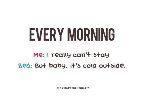 me & my bed
