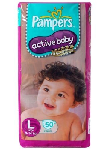 Pampers - Active Baby Diapers L 50 Diapers (9 - 14 Kg) Buy Online at Best Price in India: BigChemist.com