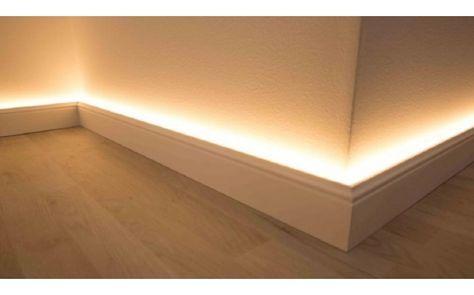 LED Licht-Fußbodenleistenrahmen aus Aluminium für NMC Fußbodenleisten (NMC WALLSTYL®)