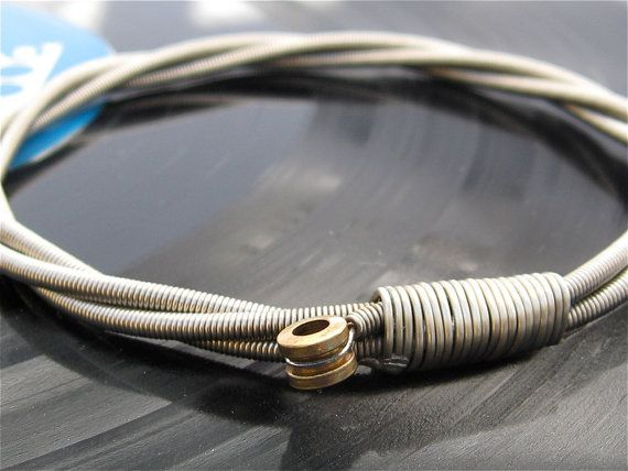 Bracelet made from guitar strings!