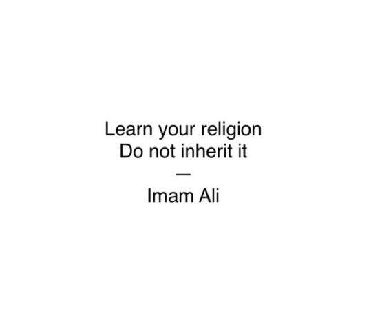 learn your religion do not inherit it : imam Ali ,#islam