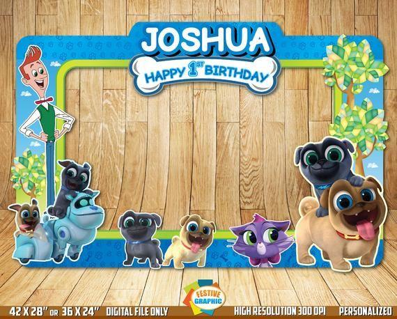 Puppy Dog Pals Photo Booth Frame Puppy Dog Pals Birthday Frame