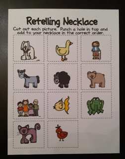 Brown Bear Retelling Activity. This would make a great circle time activity.