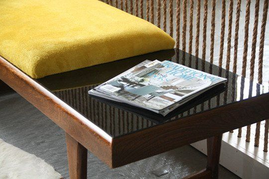 How To: Thrifted Table to a Modern Upholstered Bench