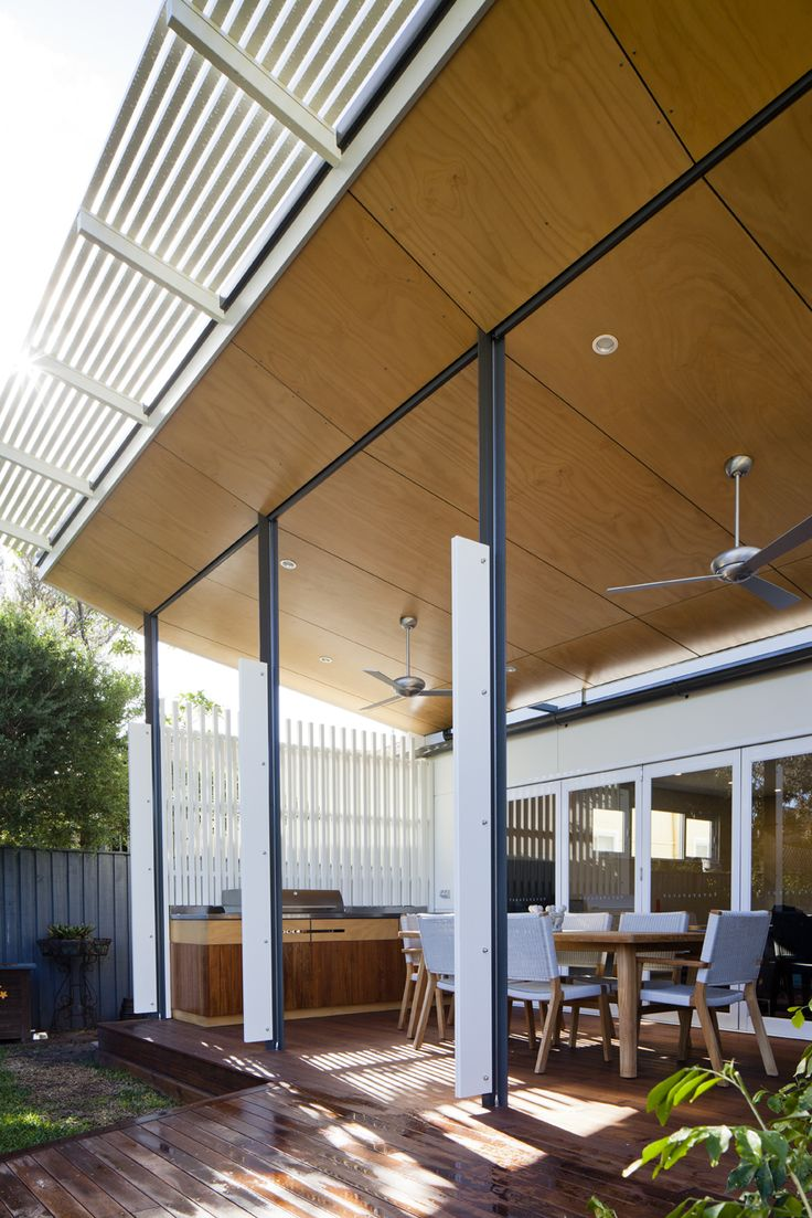 Deck & plywood ceiling