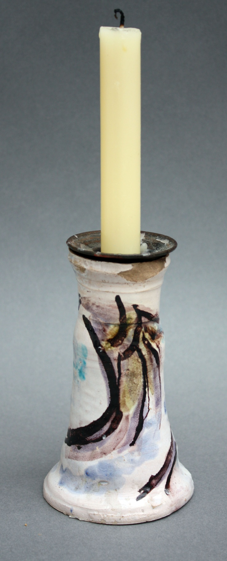 ¤ Candlestick decorated by Duncan Grant