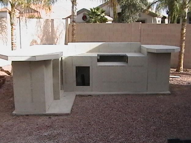 Diy Outdoor Kitchen - Concrete Board Sheathing Maybe Stucco | How