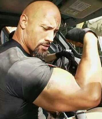 """Dwayne """"The Rock"""" Johnson: What muscles?.. Oh those."""