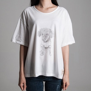 People of Tastes: Korea  organic print t shirt - women  #peopleoftastes #greeninspiration #dog #tshirt #puppyshirt