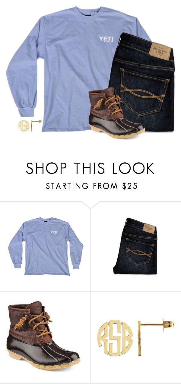 """✌️"" by morgantaylor37 ❤ liked on Polyvore featuring Abercrombie & Fitch and Sperry Top-Sider"