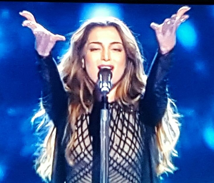 "Iveta Mukuchyan (Armenia) singing ""LoveWave"" in the Eurovision 2016 semi-final 1 made it to the grand final."