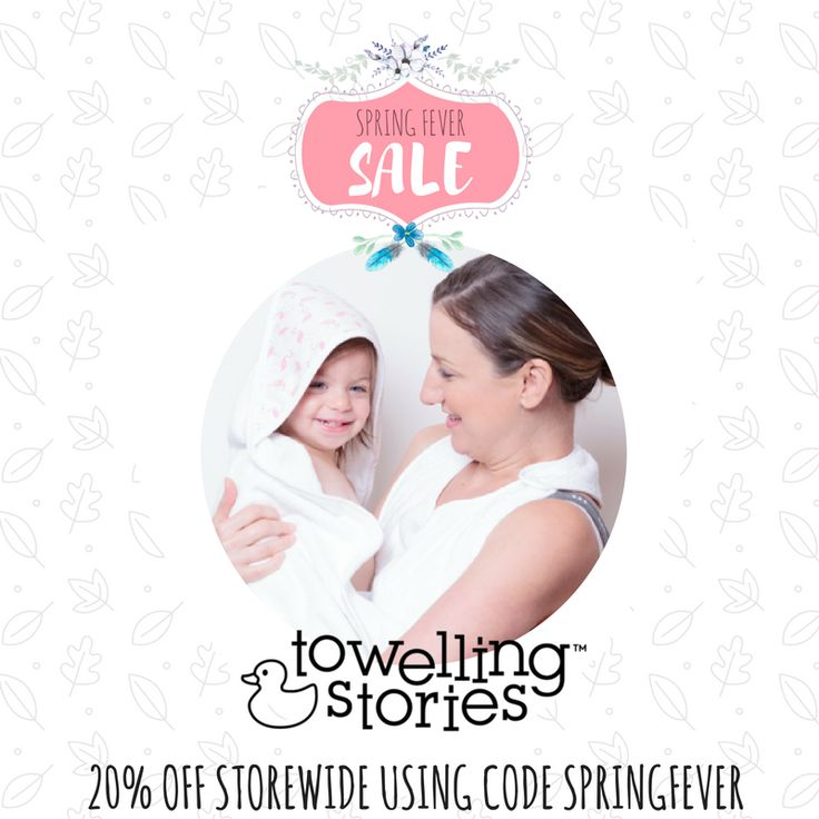 APRON STYLE TOWELS, BIBS, NURSING PADS + MORE 20% off sleep services.  Valid until midnight Oct 1 Code: SPRINGFEVER