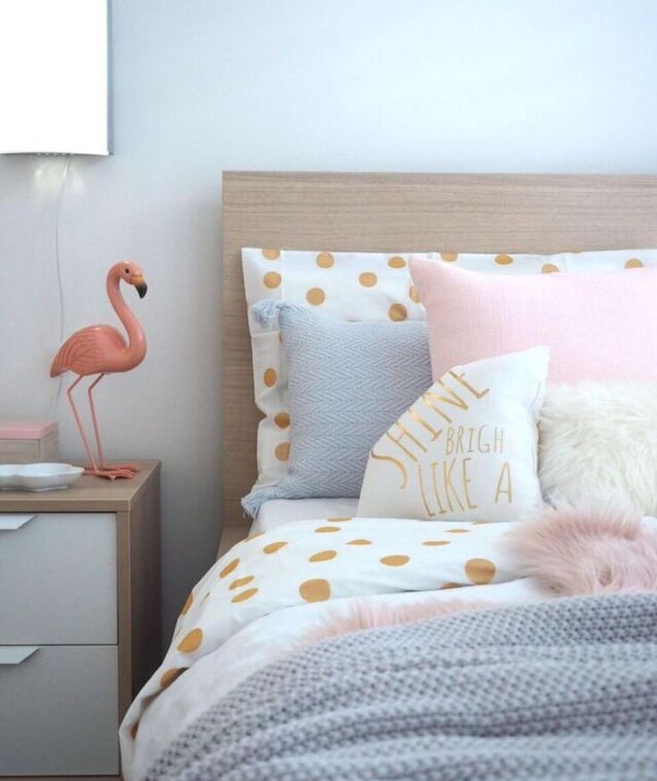 "How cute is this little girls room her brief to me was ""I like beige and neutrals maybe a touch of pink"" so cute! You should of seen her face when we revealed her new bedroom to her #priceless  Design & Styling @empireofstyle_  #stylist #interiordesigner #interiordesignermelbourne #littlegirlsroom #girlroom #kidsrooms #homeinspo #flamingo #pinkgirlsroom"