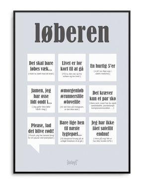 Løberen A3 plakat - Runner poster from Dialægt