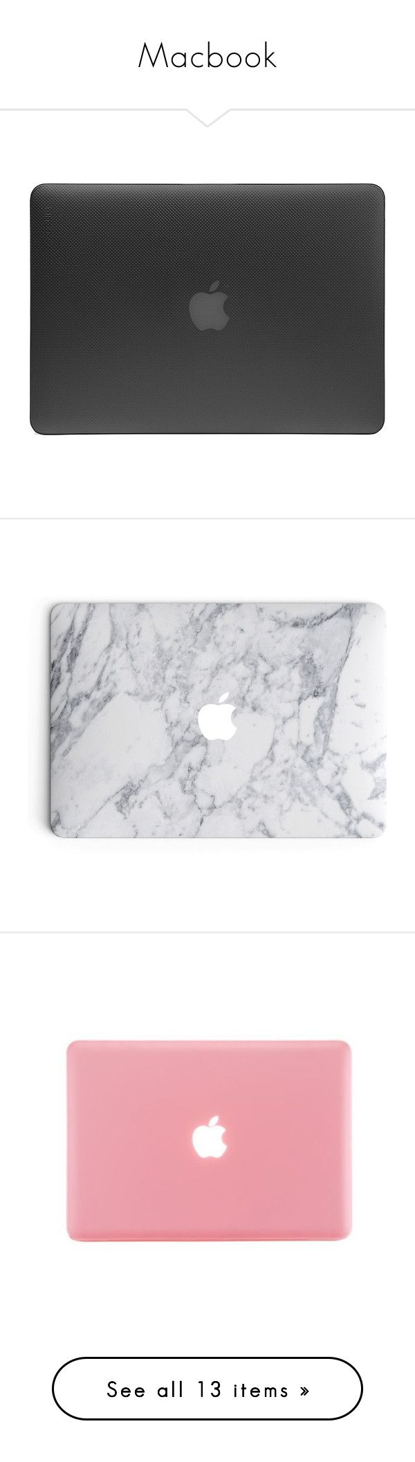 """""""Macbook"""" by andreiasilva07 ❤ liked on Polyvore featuring bags, fillers, electronics, tech, fillers - black, stuff, black, thermal bags, incase bags and macbook bag"""