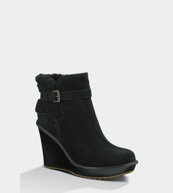 UGG® Anais: Shoes, Wedges Ankle, Ugg Boots, Warm Winter, Classic Ugg, Antiques Buckles, Ugg Anais, Ankle Boots, Bought Today