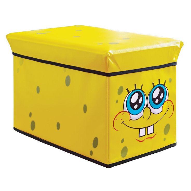 Nickelodeon SpongeBob SquarePants Storage Ottoman - Kids, Multicolor