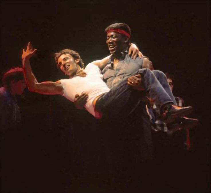 """Bruce and Clarence during the """"Born in the USA"""" tour."""