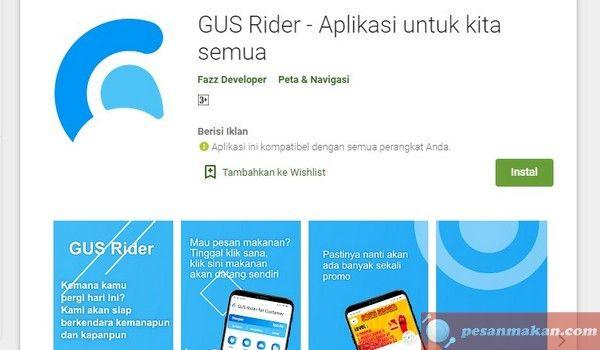 Tutorial Cara Menggunakan Aplikasi Gus Rider Untuk Pesan Makan Online Gus Food Pesan Aplikasi Makanan