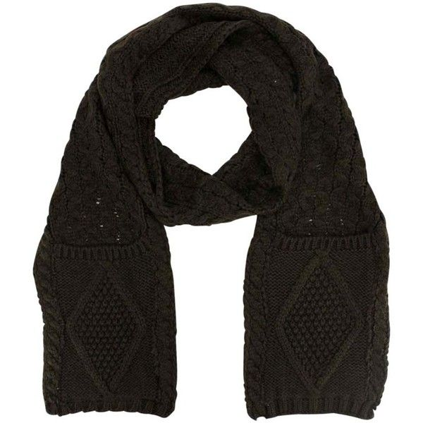 Brown Classic Knit Winter Knit Scarf With End Pockets (415 EGP) ❤ liked on Polyvore featuring accessories, scarves, brown, heavy, brown shawl, long shawl, brown scarves, knit scarves and hand knitted shawl