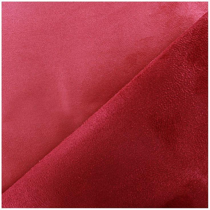 Tissu Suédine épaisse bicolore Alaska vermillon/cerise x 10cm - Ma Petite Mercerie