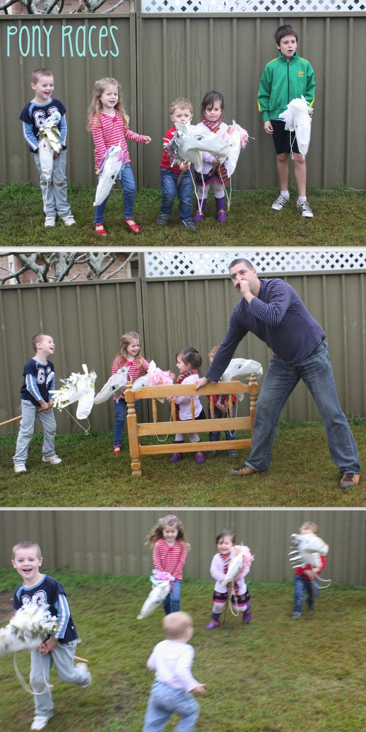 Pony Party: Games idea - pony races | my kids would love this